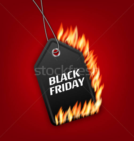 Sale Discount with Fire Flame for Black Friday Stock photo © smeagorl