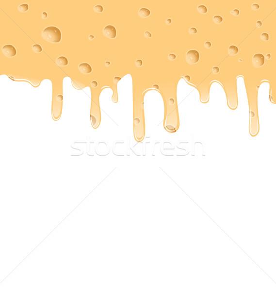 Gesmolten kaas textuur ruimte tekst illustratie Stockfoto © smeagorl