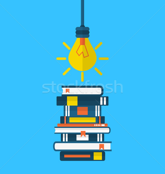 Onderwijs leren iconen hoop illustratie Stockfoto © smeagorl