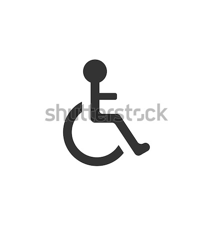 Pictogram of Disabled in Wheelchair Stock photo © smeagorl