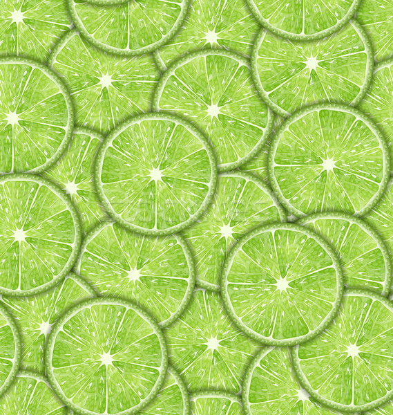 Seamless Pattern Slices of Lime Stock photo © smeagorl