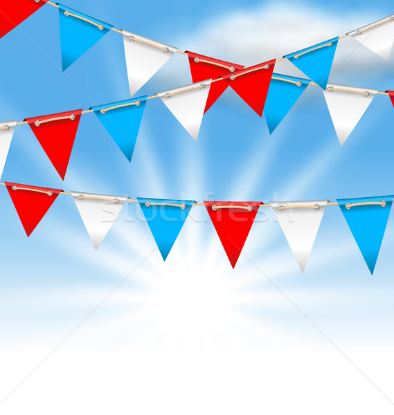 Bunting Flags for American Holidays, Patriotic Colors of USA Stock photo © smeagorl