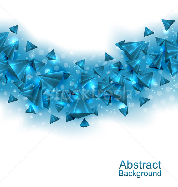 Abstract Background with Pyramids with Light Effects Stock photo © smeagorl