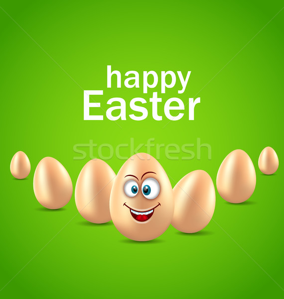 Христос воскрес карт смешные яйцо юмор приглашения Сток-фото © smeagorl