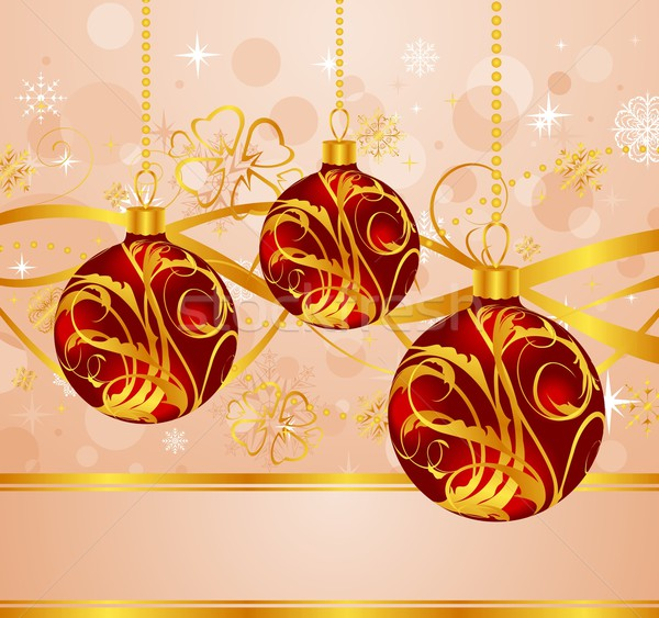 abstract background with Christmas balls Stock photo © smeagorl