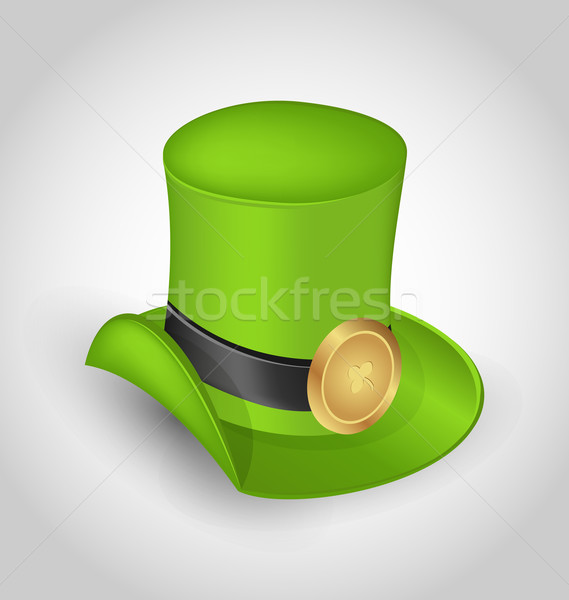 Green hat with buckle in saint Patrick Day - isolated on white b Stock photo © smeagorl