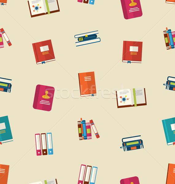 Colorato libri di testo illustrazione istruzione vintage Foto d'archivio © smeagorl