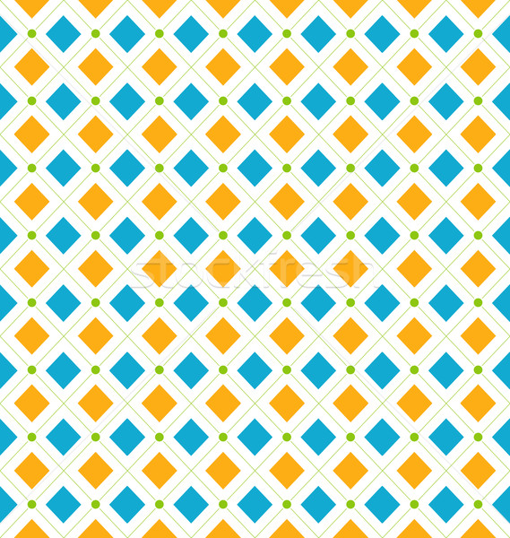 Seamless Geometric Texture with Rhombus and Dots, Funky Contrast Stock photo © smeagorl