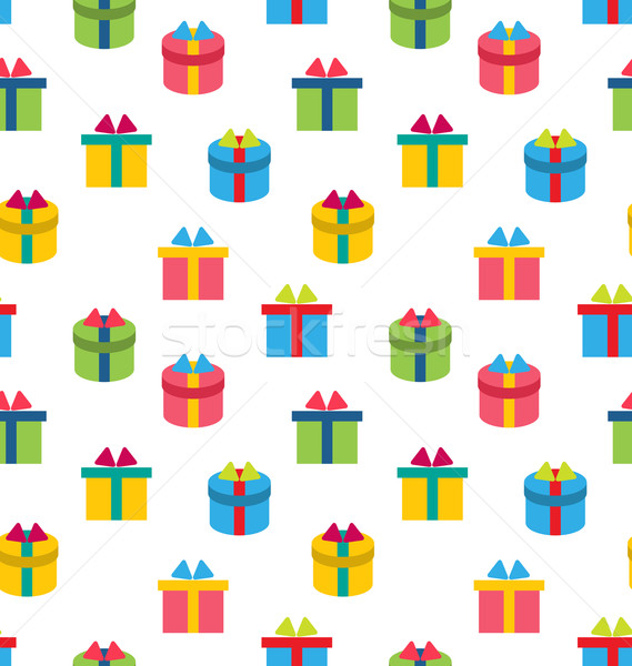 Seamless Texture of Colorful Present Boxes Stock photo © smeagorl
