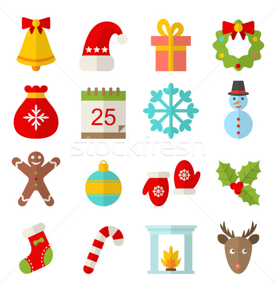 Christmas and Winter Traditional Symbols Stock photo © smeagorl