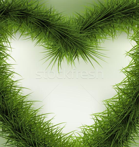 Christmas Background  heart shaped wreath Stock photo © smeagorl