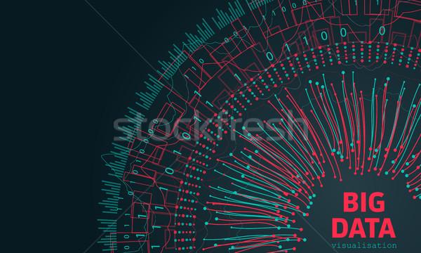 большой данные фрактальный Элементы линия массив Сток-фото © smeagorl