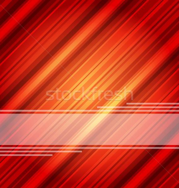 Techno abstract rosso strisce texture illustrazione Foto d'archivio © smeagorl
