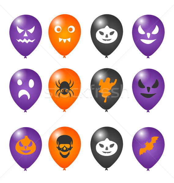 Stock photo: Colorful balloons for Halloween party