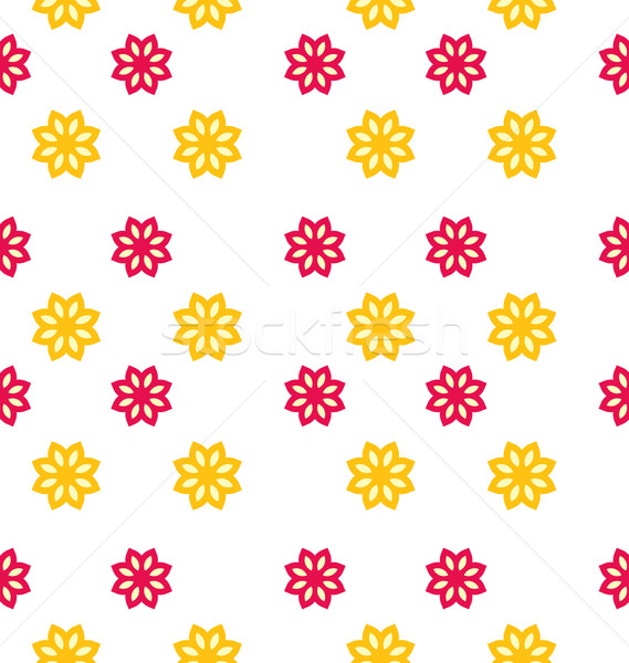 Seamless Texture with Flowers, Elegance Kid Pattern Stock photo © smeagorl