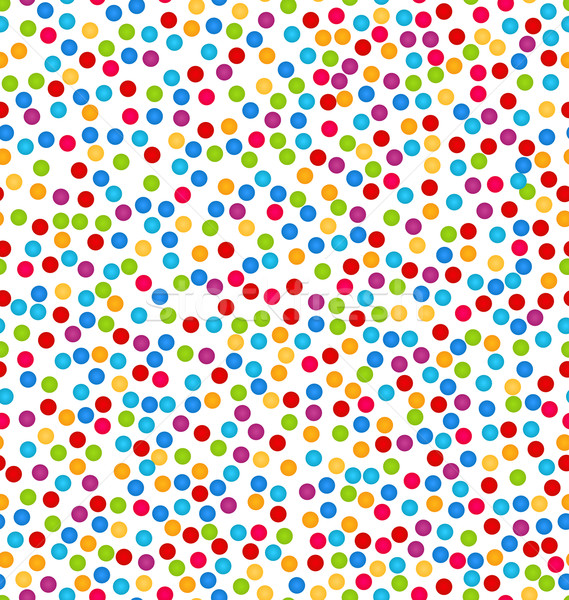 Seamless Pattern with Confetti, Fun Colorful Background Stock photo © smeagorl