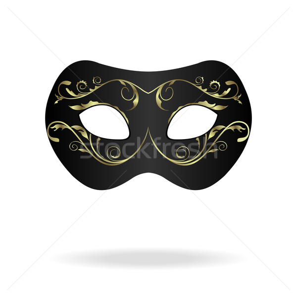 Illustration realistisch Karneval Theater Maske isoliert Stock foto © smeagorl