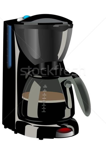 реалистичный иллюстрация кофеварка кофе стекла фон Сток-фото © smeagorl