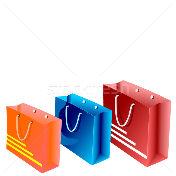 Realistic illustration of  packet for shopping Stock photo © smeagorl