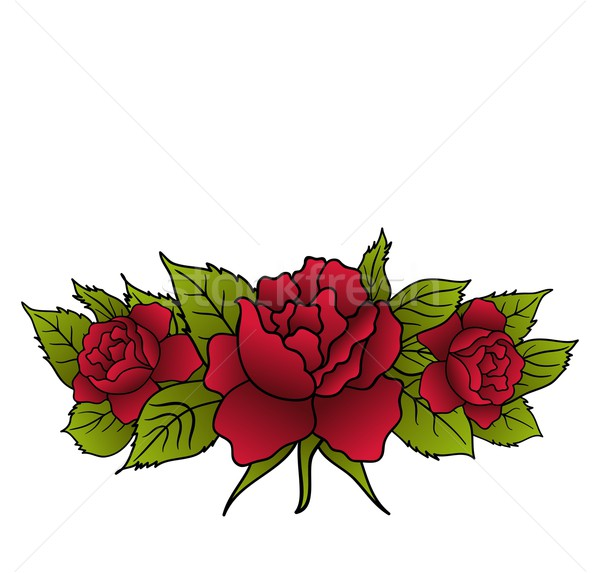 beautiful red roses isolated Stock photo © smeagorl