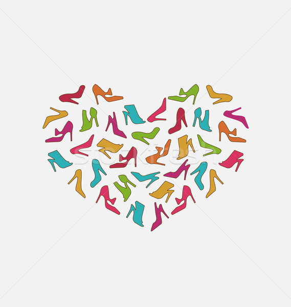 Heart Made in Women Shoes Stock photo © smeagorl