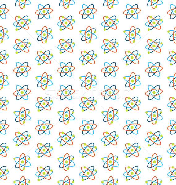 Seamless Pattern of Atomic Symbols for Science Stock photo © smeagorl