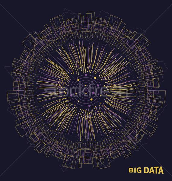 Grand données structure lignes analyse Photo stock © smeagorl