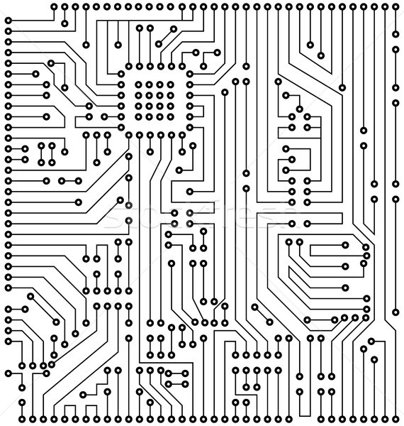 Circuit Texture, Digital Background, Engineering, Processing Stock photo © smeagorl