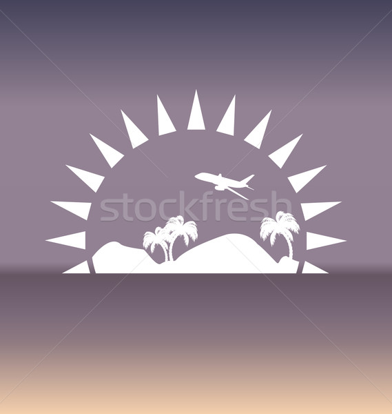 Design template with summer holiday background Stock photo © smeagorl