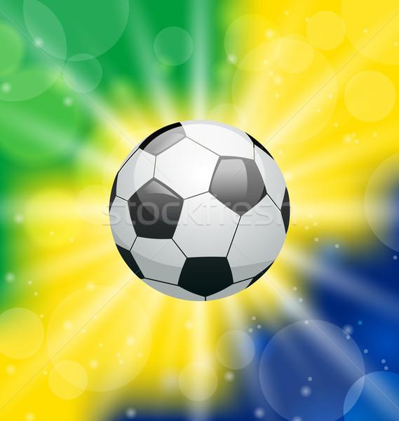 футбольным мячом Бразилия 2014 иллюстрация Мир футбола Сток-фото © smeagorl