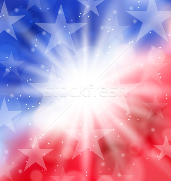 Happy 4th of July card with place for text Stock photo © smeagorl