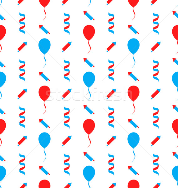 Seamless Texture for Independence Day of America Stock photo © smeagorl