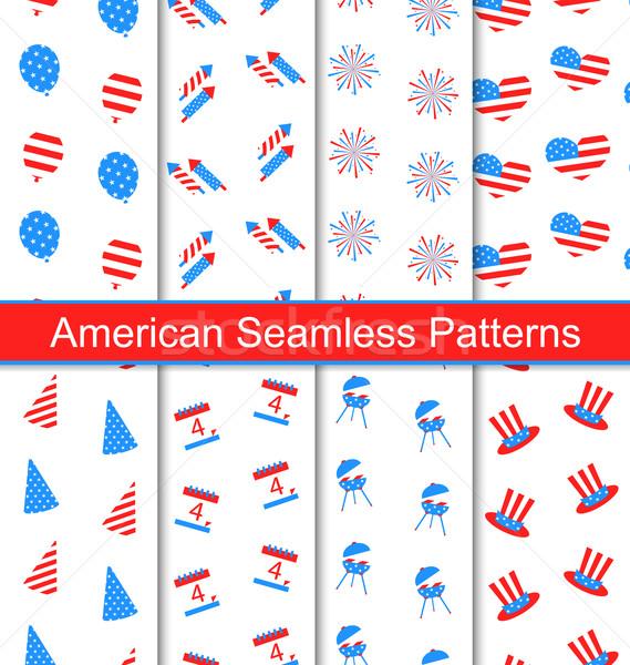 Set Seamless Textures Stock photo © smeagorl