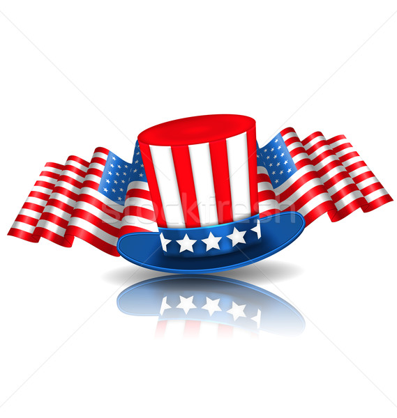 Festive Background in American National Colors Stock photo © smeagorl
