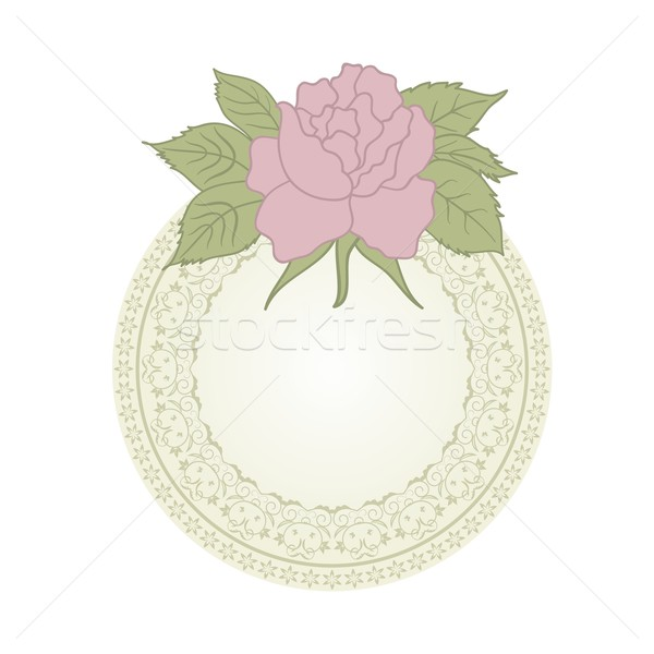 vintage greeting card with rose Stock photo © smeagorl