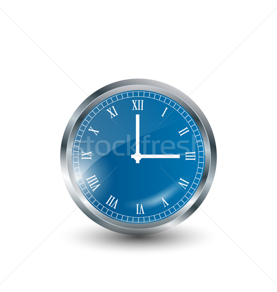 Realistic modern clock isolated on white background  Stock photo © smeagorl