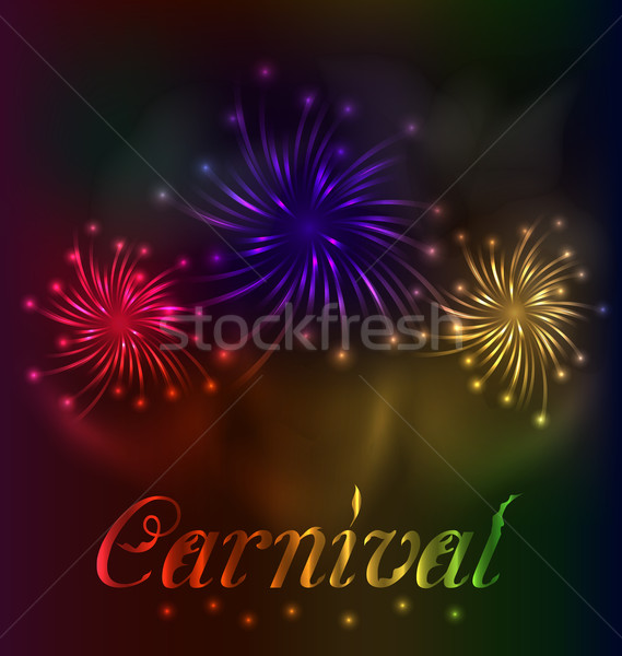 Colorful fireworks background for Carnival party  Stock photo © smeagorl