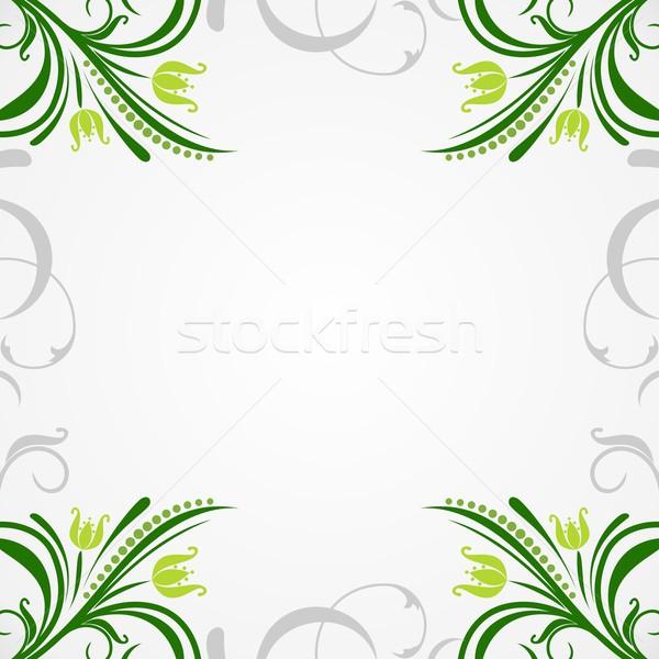 Illustration floral résumé design peinture Photo stock © smeagorl