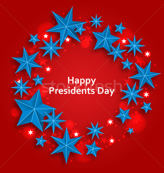 Stars Background for Happy  Presidents Day Stock photo © smeagorl