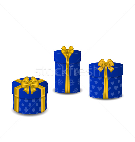 Collection gift boxes isolated on white background Stock photo © smeagorl
