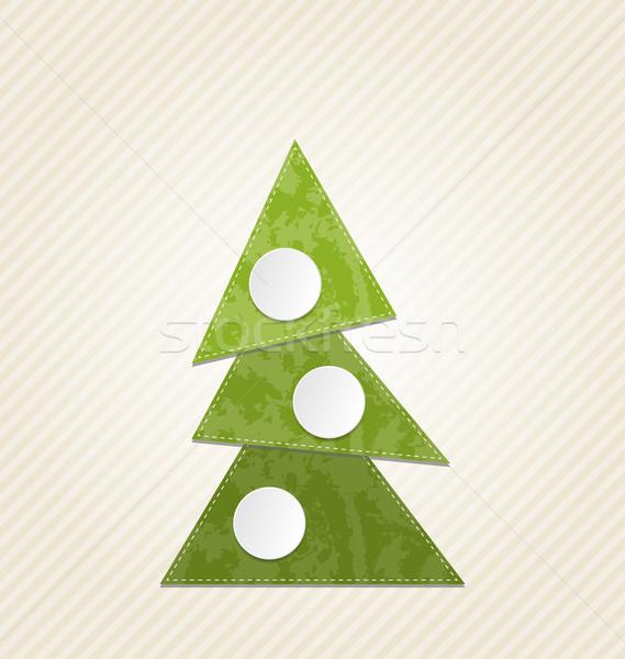 Christmas streszczenie drzewo minimalny stylu ilustracja Zdjęcia stock © smeagorl