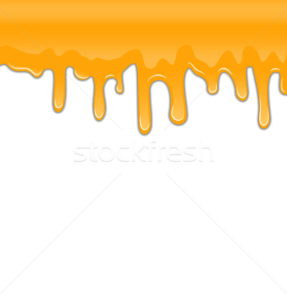 Texture of Sweet Honey Drips on White Background Stock photo © smeagorl
