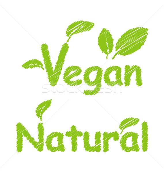 Vegan and Natural Green Texts Stock photo © smeagorl