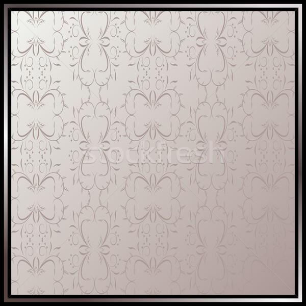 Vintage cadre illustration floral vecteur espace Photo stock © smeagorl