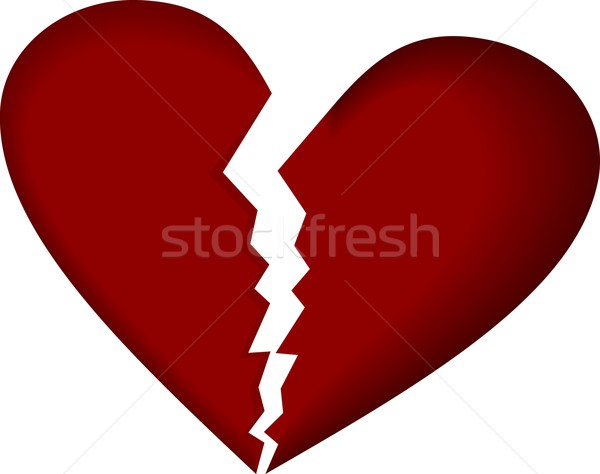 Broken heart on white Stock photo © smeagorl