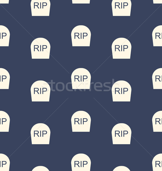 Halloween Seamless Pattern with Tombstones R.I.P. Stock photo © smeagorl