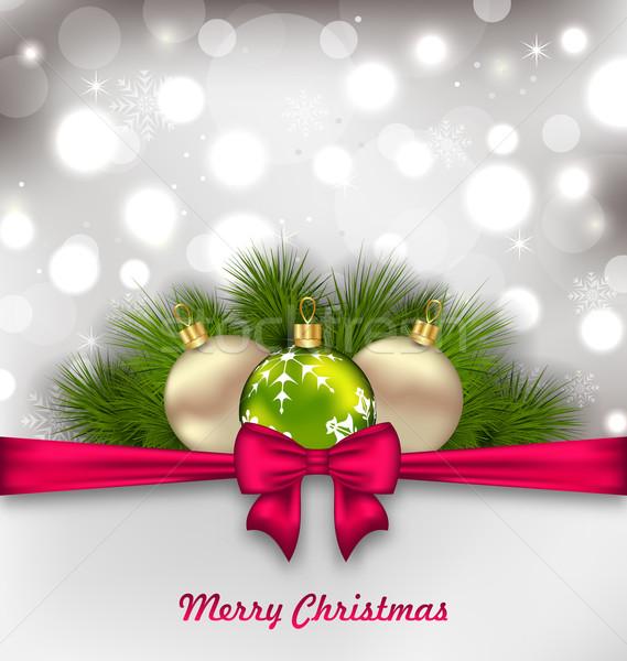 Christmas Shimmering Postcard Stock photo © smeagorl