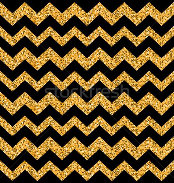 Parıltı zikzak doku örnek siyah Stok fotoğraf © smeagorl