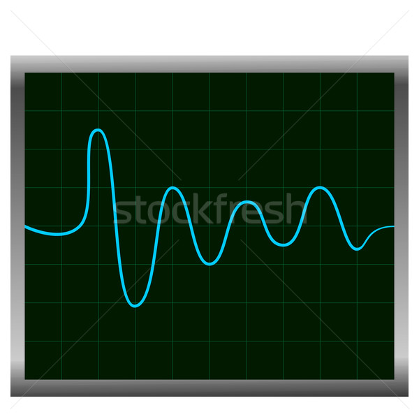 Normal ECG (electronic cardiogram) blue Stock photo © smeagorl