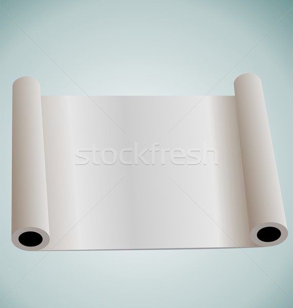 Illustration of blank paper roll for design Stock photo © smeagorl